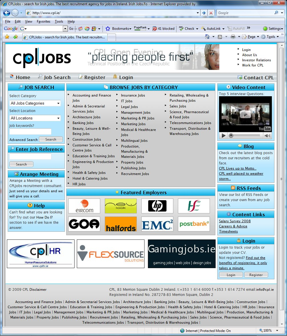 job site jobs blog cpl jobs web site