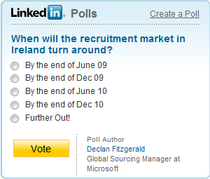likedin-poll-When will the recruitment market in Ireland turn around