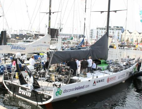 green-dragon-volvo-ocean-race-galway-in-port