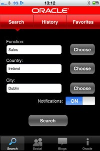 Oracle iPhone Jobs App 0 Click to open in a large window