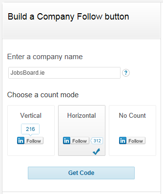 LinkedIn Follow Button